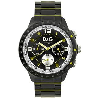 Dolce & Gabbana D&G Dolce&Gabbana – Reloj analógico de cuarzo unisex con correa de acero inoxidable, color negro