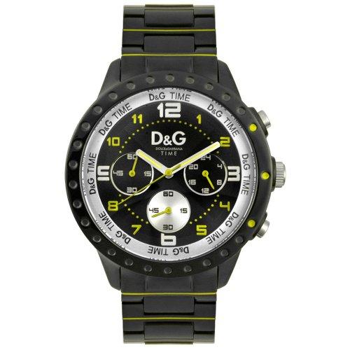 Dolce & Gabbana D&G Dolce&Gabbana - Reloj analógico de cuarzo unisex con correa de acero inoxidable, color negro