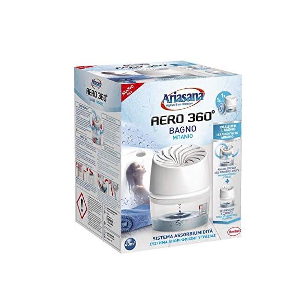 Ariasana-Aero-360-Bagno-Kit-assorbiumidit-Deumidificatore-bagno-con-efficace-ricircolo-daria-Deodorante-bagno-assorbi-umidit-1-dispositivo-e-1-ricarica-in-Tab-da-450g