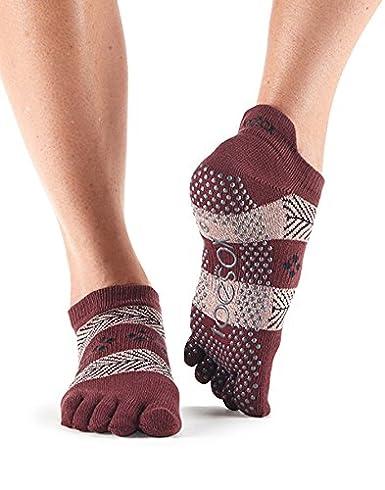1 Paire complet Toe ToeSox femmes Organic Cotton Low Rise yoga Chaussettes  Dans Fuchsia: Amazon.fr: Sports et Loisirs
