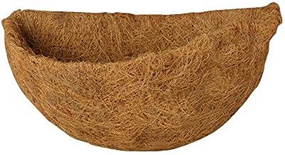 Esschert Design Ersatzeinlage für Halbrundkorb, 33 x 18 x 17 cm, halbrunde Kokoseinlage, Hängekorb, Naturkorb von Esschert Design Deutschland auf Du und dein Garten