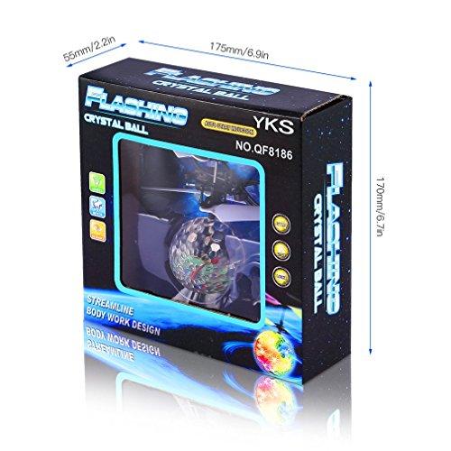 RC fliegender Ball mit LED Leuchtung Disco Musik Spielzeug RC Infrarot Induktionshubschrauber Ball für Kids - 9