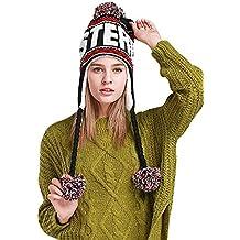 Oudan Cappello Invernale Peruviano con Motivo a Maglia Lavorato a Maglia in  Pile Morbido da Donna e431a9aecc25