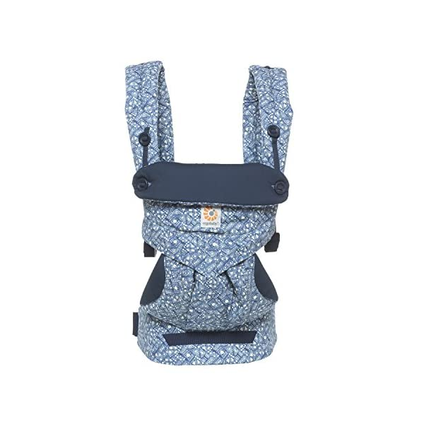 Ergobaby Baby Carrier 6 month plus 360 Limited Edition Batik Indigo, 4 Ergonomic Carry Positions, Front Facing Baby Carrier, Backpack Ergobaby Ergonomic baby carrier with 4 ergonomic carry positions: front-inward, back, hip, and front-outward. The carrier is suitable for babies and toddlers weighing 5.5-20 kg (12-45 lbs), and can be used as a back carrier. Also with insert for newborn babies weighing 3.2-5.5 kg (7-12 lbs), sold separately. NEW - The waistbelt with lumbar support can be worn a little higher or lower to support the lower back and provide optimal comfort, and has adjustable padded shoulder straps. The carrier is suitable for men and women. Maximum baby comfort - The structured bucket seat supports the correct frog-leg position for the baby. The carrier also has a padded, foldable head and neck support. Ergobaby carriers are a new take on the usual baby sling. 8