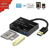 YEHUA XQD Kartenlesegerät USB 3.0 XQD Card Reader Adapter XQD/SD Dual Slot Flash Speicherkartenleser (bis zu 5GBP/s) Schreiben Sony G Serie,SD Serie, Lexar USB Mark Karte für Mac OS/Windows