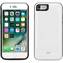 """Funda Batería iphone 7, Lenuo Funda Protectora Cargador con Batería 5200mAh Carcasa Protectora Recargable para iPhone 7 4.7"""", Color Blanco"""