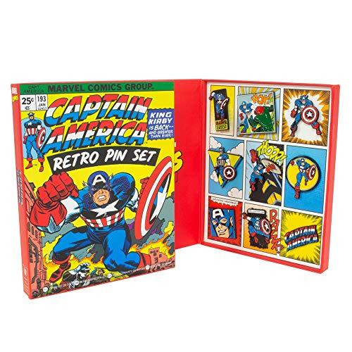 Marvel Avengers:Captain America Retro Pin Set -