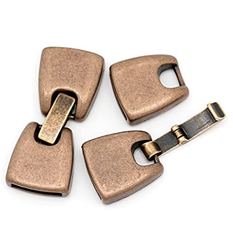 Housweety 5Sets Toggle Clasps Findings Handbag Copper Tone 4cmx1.6cm-Great for Jewelry Making,DIY Crafts