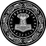 empireposter Thor - Hammer - Hochwertiger Teppich - Größe Ø 60 cm