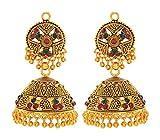 Khoobsurat Gold Brass Jhumki Earrings fo...