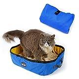 Petneces tragbare und klappbare Katzentoilette, wasserdicht, für Reisen, Outdoor, Katzen-Box, zum Tragen