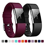 Kutop Fitbit Charge 2 Armband, TPU weiches Silikon Sporty Ersetzerband Silikagel Fitness verstellbares Uhrenarmband für Fitbit Charge 2