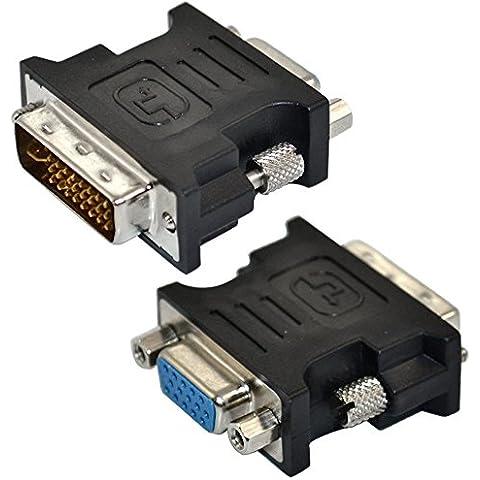 ourbest DVI-I 24+ 5pines macho a SVGA VGA hembra 15pin tarjeta de video adaptador convertidor