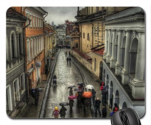 rain-on-street-in-old-vienna-austria-hdr-mouse-pad-mousepad