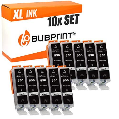 10 Bubprint Druckerpatronen kompatibel für Canon PGI-550XL schwarz für Pixma IP7200 IP7250 MG5650 MG5550 MG6450 MX920 MG6650 MG7150 MG7550 MX925