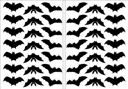 Halloween-Fledermaus Aufkleber 2 x A5 verklebefreundlich selbstklebende Deko FLEDERMÄUSE.