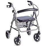 Leichtgewicht-Rollator LR | 53 cm Sitzhöhe | inkl. Stockhalter und Korb | Trendmobil | Gehramen