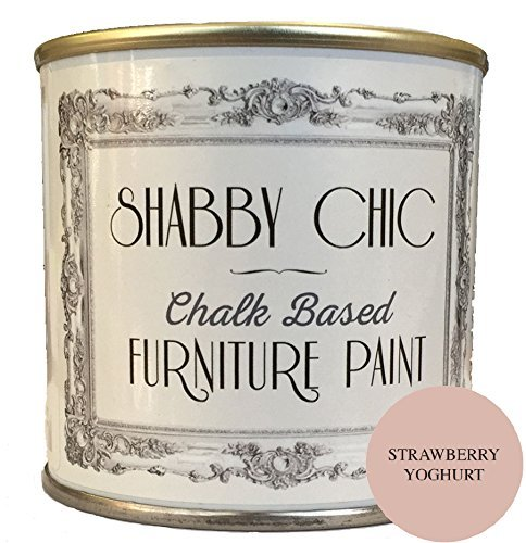 Strawberry Yogurt Furniture Paint great for creating a shabby chic style. 1 litre by Shabby Chic Furniture Paint