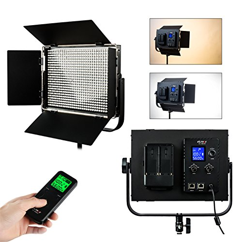VILTROX VL-D60T 60W 6324LM 816pcs Bi-Farben-LED-Videoleuchte, Dimmable-Helligkeit LED-Licht-Platte, Foto-Studio-Fülle-Beleuchtung, Unterstützung drahtlos und DMX-Steuerung