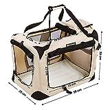 Songmics Hundebox faltbar Oxford Gewebe Maße auswählbar – S 50 x 35 x 35 cm PDC50W - 3