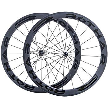 Rothar RV50-C23 Juego de Ruedas Formato Cubierta Full Carbón, Negro, Perfil:
