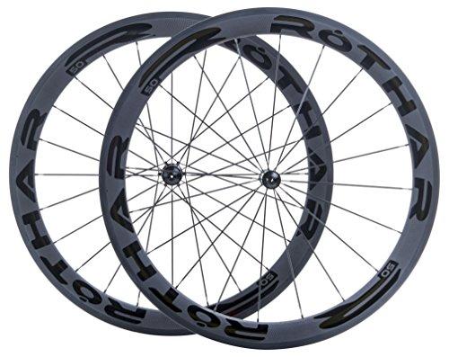 Rothar RV50-C23 Juego de Ruedas Formato Cubierta Full Carbón, Negro, Perfil: 50mm