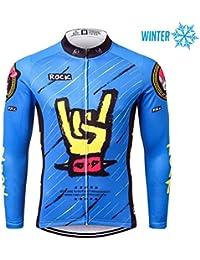 Thriller Rider Sports® Hombre Rock Music Deportes y Aire Libre Invierno Térmico Calentar Chaqueta de Ciclismo 4X-Large