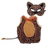 MagiDeal Leopard Kostüme für Baby Kinder Set - Kostüm und Maske - Halloween Kleidung - M
