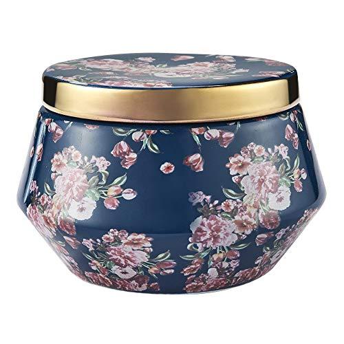 Preisvergleich Produktbild Duftkerze im Keramikglas,  Geschenkkerze Bambus Limette 454g 3-Dochte Natürliches Wachs Frischer Hausduft