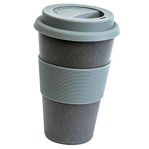 Magu Bambus Coffee2go Becher schiefer 0,333l mit Sikokondeckel 136465