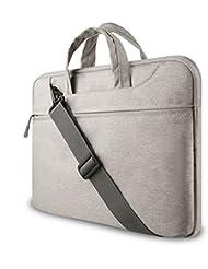 GADIEMENSS Water-resistant Laptop Shoulder Briefcase Bag Portable Computer case handbag For Apple Macbook Air Pro and other Notebook