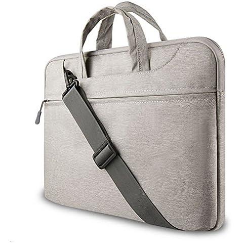 GADIEMENSS Water-resistant Laptop Shoulder Briefcase Bag Portable Computer case handbag For Apple Macbook 12