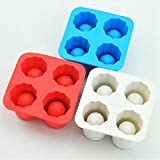 XZANTE Drink Eiswuerfelschale Coole Form Eiswuerfel Eiswuerfelform Eiswuerfelform Eine Tasse 4-Cup Eiswuerfelschale