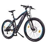 'NCM Moscow 2016, 29'Vélo électrique Mountain Bike, E de VTT E-Bike, Pedelec, 36V 250W bafang Moteur, 36V 13Ah Designer Cadre Batterie, noir mat, bleu clair