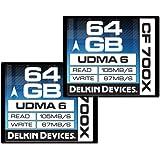 Delkin 64GB Compact Flash Speicherkarte 700x Pack 2 [DDCF700-64GB (2x64)]