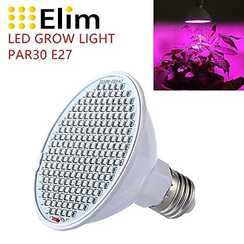 LED Grow Light Lumière de croissance pour plante lumière rouge+bleu et spectre complet 30W E27