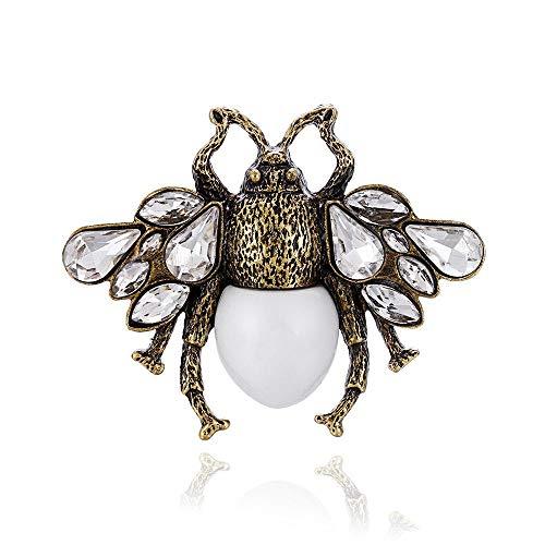 Ludage Exquisite Vintage Brosche Dreidimensionale Perle Pin Biene -