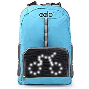 Zaino da ciclismo Eelo Cyglo con display a segnali a LED - Blu