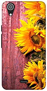 The Racoon Lean Fresh Sunflowers hard plastic printed back case / cover for Micromax Canvas Selfie Lens Q345