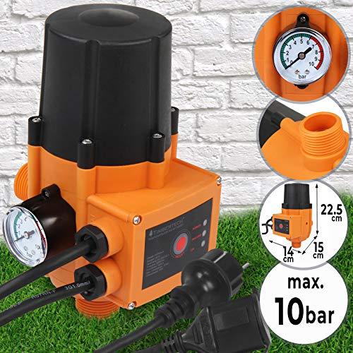 Pumpensteuerung mit oder ohne Kabel - mit Baranzeige, max. 10 bar, 12V, 230V, automatisches Ein- und Ausschalten, Trockenlaufschutz, Druckschalter, Druckwächter für Hauswasserwerk