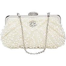c5d97b9cb0 ORSERA Borsa donna Borsa clutch Cerimonia Perline Perle Donne Eleganti  Pochette e clutch