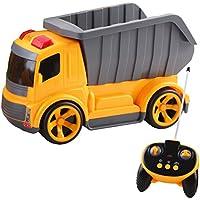 deAO RC Camiones de Serie Camión de Construcción Completamente Funcional 5 Canales de Radio Control Vehículo de Obras con Luces y Sonidos Nivel Principiante (Camión Volquete)