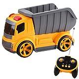 deAO funkgesteuerte Baustellenfahrzeug-Serie: 5 Kanäle, Bau- LKW , Fahrzeug mit Geräusch-und Lichteffekten, Anfänger Level - Kipper