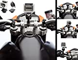 UltimateAddons Motorrad Lenker stark Metall Bügel Halterung + FLACH-ADAPTER für GoPro Hero 2 3 4 5
