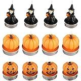 OSALADI Halloween Theelicht Kaarsen Pompoen Heks Soja Wax Theelichten Kaarsen Desktop Tafel Ornament voor Halloween Feestbenodigdheden