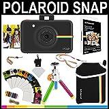 """Polaroid Snap appareil photo instantané (Noir) + papier Zink 2 x 3 """" (Pack de 20) + pochette en néoprène + cadres de photos + ensemble d'accessoires"""
