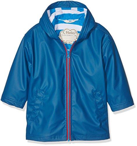 Hatley Jungen Regenmantel Splash Jacket-Navy (Boys) Blau-Blau, 5 Jahre (Kreide-streifen-hose)