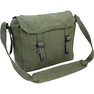 Highlander Army Travel Shoulder Military Combat Day Bag Messenger Satchel Canvas Surplus Haversack Green