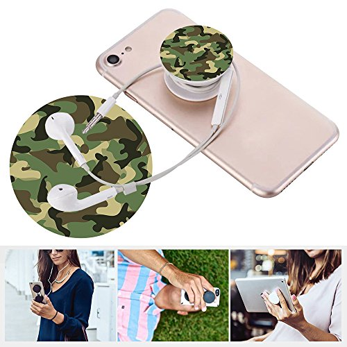 n Ständer und Grip,Expansion Ständer iphone 4S 5S SE 6 6S 7 7S 8 X PLUS ipod ipad samsung HTC Halterung Universal Finger Halterung mit Anti-Fall Telefon Air Sac Smartphone Schr Weiß Grün Tarnung camouflage (5 S Telefon Fällen Iphone)