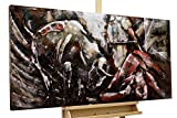 Extravagantes KunstLoft® Metallbild 3D 'Corrida de Toros' 120x60x7cm   Design Wanddeko XXL handgefertigt   Unikat Luxus Wandskulptur   Stier Stierkampf Torero Tier Spanien   Wandbild Relief modern